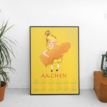Aachen Printmädchen Kalender