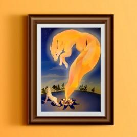 """Poster """"North magic"""" A3"""