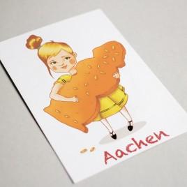 """Postkarte """"Öcher Mädchen"""""""